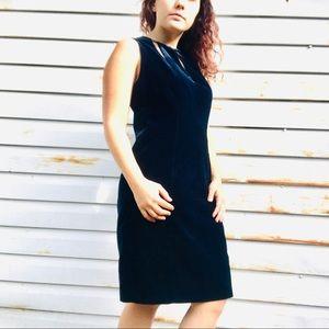 Classy Velvet Elie Tahari Deep Blue Holiday Dress
